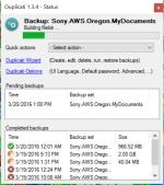 duplicati partial backup